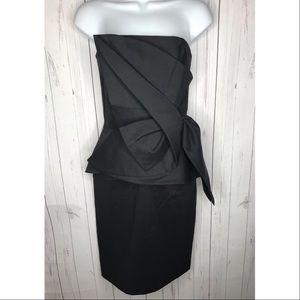 WHBM Size 2 Black Strapless Cocktail Dress